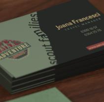 Identidad corporativa 3d de Aventura. Um projeto de 3D, Br e ing e Identidade de Sergio Muñoz Saiz         - 09.06.2015