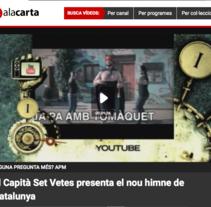 """Capità Set Vetes - """"Barça Sardana"""". Un proyecto de Música, Audio, Cine, vídeo, televisión, Diseño de personajes y Vídeo de Ferran Maspons         - 26.02.2015"""