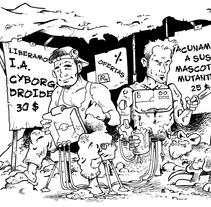 Ilustración para El Mundo es Atroz (fanzine de Ciencia-Ficción). Un proyecto de Ilustración de Alberto Peral Alcón         - 15.06.2015