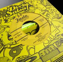Cómo hacer sobres para tus discos de 7 pulgadas. A Illustration project by Juan Pablo Varela - Jun 27 2015 12:00 AM