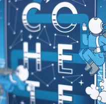 Cohete Poster. A Graphic Design&Illustration project by Javi Murillo - 06.29.2015