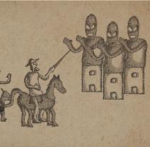 El Quijote. Un proyecto de Ilustración, Motion Graphics y Animación de Daniel Bezier         - 13.07.2015