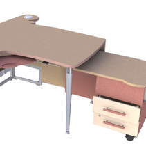 Diseño de mesa administrativa. A 3D, Furniture Design&Industrial Design project by Alberto Sánchez Bermejo         - 21.07.2012