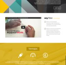 Web corporativa Keyfibre. Um projeto de Desenvolvimento Web de Alan Cesarini         - 26.07.2015