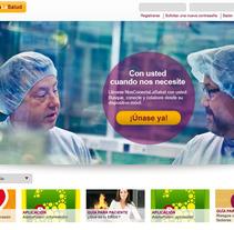 Nos conecta la salud (portal web). Um projeto de UI / UX, Arquitetura da informação e Web design de Jesús Hernando         - 29.07.2011