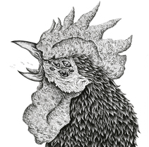 Gallo mutante. Um projeto de Ilustração de Marta Maldonado         - 26.07.2015