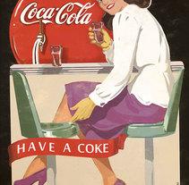 Coca Cola Poster. Um projeto de Ilustração de Damián Díaz         - 05.08.2015