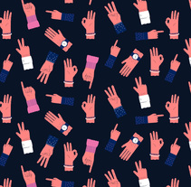 All Hands Pattern. A Illustration project by ana seixas         - 05.01.2015