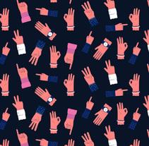 All Hands Pattern. Un proyecto de Ilustración de ana seixas         - 05.01.2015