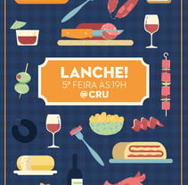 Lanche na Cru - Cartel. A Illustration project by ana seixas         - 14.03.2015