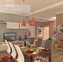 Propuesta de diseño interior para una casa unifamiliar (3DStudio + Vray + Photoshop). Un proyecto de Diseño, 3D, Arquitectura, Arquitectura interior y Diseño de interiores de Laura         - 19.08.2015