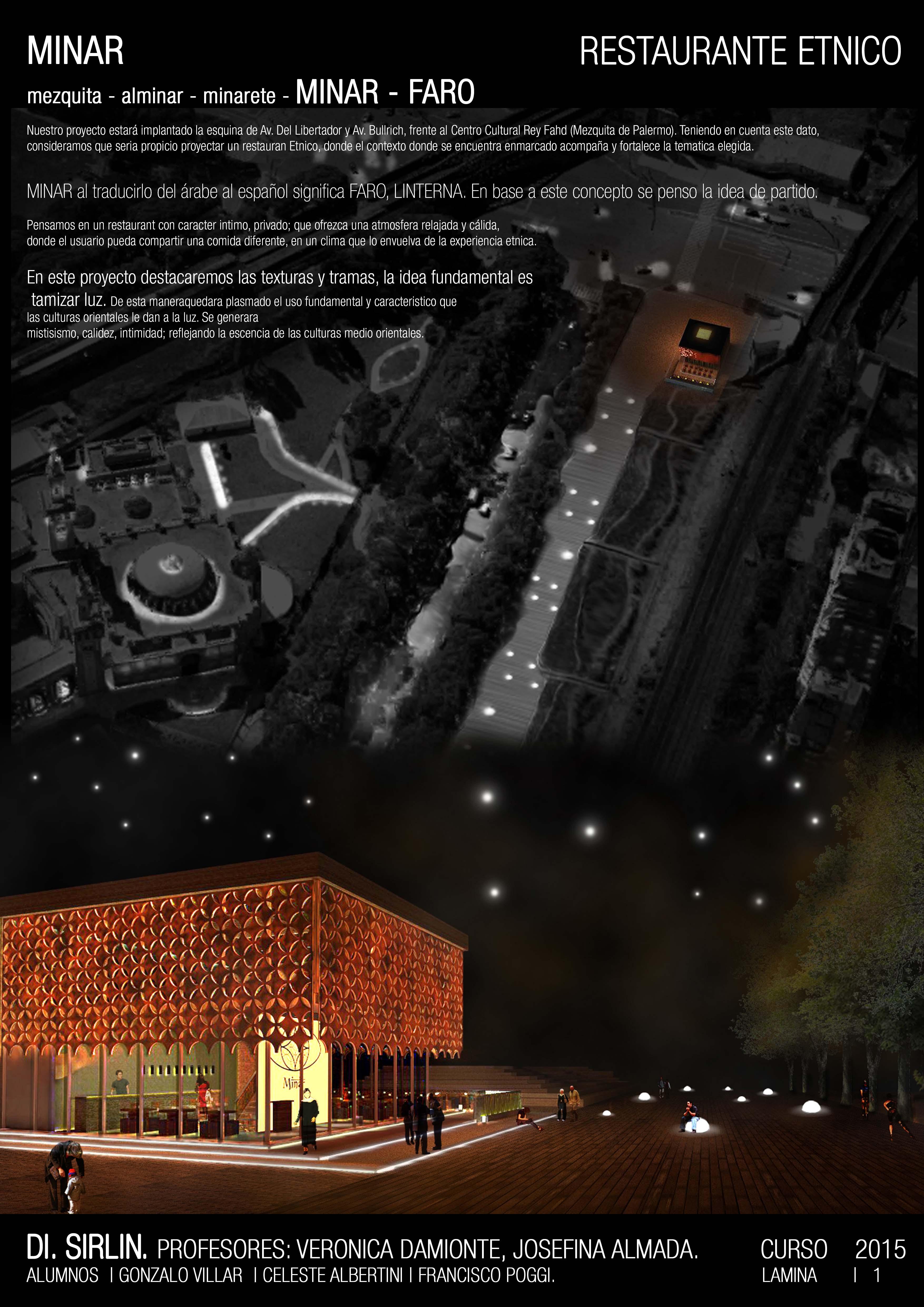 Restaurant tematico dise o iluminacion catedra sirlin - Iluminacion original ...