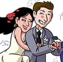 Wedding card. Un proyecto de Ilustración de Diego Burdío - Sábado, 01 de marzo de 2014 00:00:00 +0100