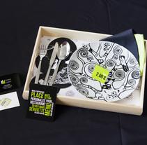 Folded Napkin - Branding - Ilustración aplicada. Um projeto de Ilustração, Br, ing e Identidade e Design gráfico de Silvia Fernández-Pacheco         - 02.07.2014