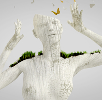 Golden White Nature. A 3D, Art Direction, Design, Sculpture, and Motion Graphics project by Melo  - Sep 22 2015 12:00 AM