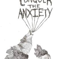 Cartel Conquer the Anxiety. A Illustration project by Javier Navarro Romero         - 22.09.2015
