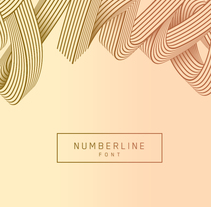 Numberline Font. A Art Direction, Illustration, T, and pograph project by Dario Trapasso - 09.28.2015