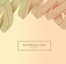 Numberline Font. Um projeto de Ilustração, Direção de arte e Tipografia de Dario Trapasso         - 27.09.2015