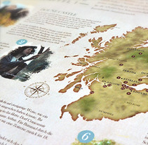 Outlander & VisitScotland. Um projeto de Design, Marketing e   Web design de Rod Tena         - 28.09.2015