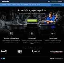 EducaPoker. A UI / UX, and Web Development project by Marcos Calatayud         - 28.09.2015