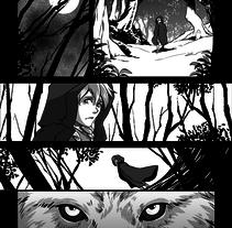 Caperucita Roja (página de muestra). Un proyecto de Comic de Marian Company Barceló         - 29.09.2015