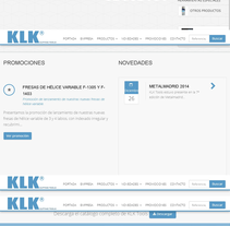 Desarrollo web catálogo online KLK Tools. A Web Development project by Alicia Guallar Gimeno          - 10.12.2014