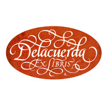 'Ex Libris' para Delacuerda. A Graphic Design, and Calligraph project by Alberto Álvarez         - 30.09.2015