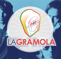 """M80 radio. Diseño de logo para el programa """"La Gramola"""".. A Art Direction project by Enrique Peláez Martín - 01-10-2015"""