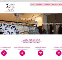 WEB Moda Gloria Vela. Un proyecto de Diseño Web de Moisés Escolà Martínez         - 17.10.2014