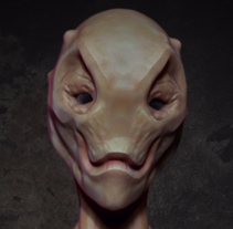 Busto Alien. A Design, 3D, Character Design, and Sculpture project by daniel.mayoral.m         - 26.10.2015
