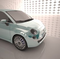 Fiat 500 - 3D car animation. A 3D, and Animation project by Pau Salas         - 05.10.2015