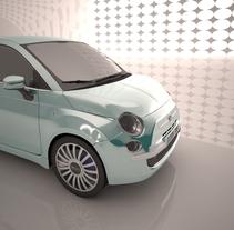 Fiat 500 - 3D car animation. Un proyecto de 3D y Animación de Pau Salas         - 05.10.2015