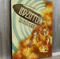 Cartel de Led Zeppelin. A Design, Illustration, Music, Audio, Art Direction, Editorial Design, Fine Art, and Graphic Design project by Nieves Gonzalez - 25-10-2015