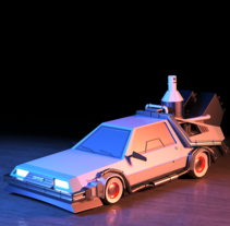 Delorean. A 3D, Animation, and Product Design project by Joaquín Alme         - 26.10.2015