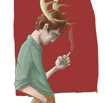 I love your horns. A Illustration, Character Design, and Fine Art project by Patricia Fernández Ruibal         - 28.10.2015