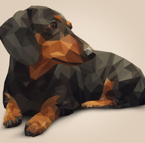 Low Poly Dachshund. A Design, Illustration, and Graphic Design project by Julio Romero         - 06.11.2015