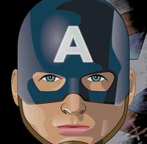 Avatar Capitán América. A Illustration, and Graphic Design project by Héctor Núñez Gómez         - 10.11.2015