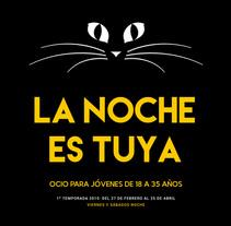 La noche es tuya Oviedo 14/15. A Graphic Design project by Iyán Vega Pablo         - 03.02.2014