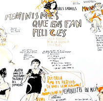 "Live drawing ""Els feminismes que ens fan felices"". A Illustration, and Events project by Tonina Matamalas         - 22.11.2015"