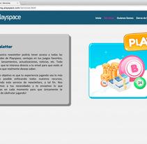 Landingpage para el mailing de Playspace. A Web Design project by Miriam Prieto González         - 24.08.2015