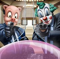 Bubble Gum campaña. A Illustration project by David de Ramón - 11.25.2015