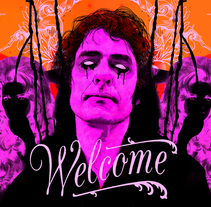"""Jon Spencer Blues Explosion para """"Sold Out"""". A Design, Illustration, Music, and Audio project by Oscar Giménez - 11.25.2015"""