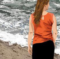 Ilustración digital. Paseo por la playa. A Illustration project by Carmen Ruiz Oliva - 29-11-2015