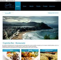 Desarrollo web para Capricho Bar Restaurante. Un proyecto de Desarrollo Web de Itziar Olazabal Alonso         - 01.12.2015