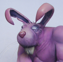 Roughneck Rabbit - Escultura. Um projeto de 3D, Design de jogos, Pintura, Escultura e Design de brinquedos de felixdasilva         - 01.12.2015