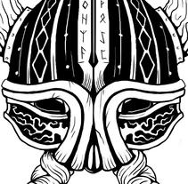 Diseño para aplicación textil. Valhalla. Um projeto de Ilustração, Design gráfico e Tipografia de Javier Usobiaga Martínez         - 03.12.2015