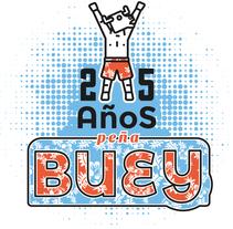 Camiseta peña Buey. A Graphic Design project by David González Gallego         - 13.12.2015