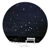 Mi Proyecto del curso Ilustración, Noche estrellada. . Un proyecto de Ilustración de Víctor Botas Cervero - Sábado, 19 de diciembre de 2015 00:00:00 +0100
