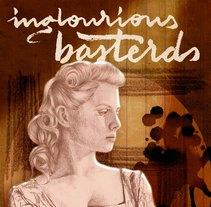 Cartel de Malditos Bastardos (Inglourious Basterds), ilustración - lettering - diseño. Um projeto de Ilustração, Direção de arte, Design gráfico, Tipografia e Cinema de Nat de la Croix         - 20.12.2015