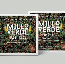 FESTIVAL ALTERNATIVO MILLO VERDE. A Design, Advertising, Music, Audio, Br, ing, Identit, and Graphic Design project by Aleks Figueira         - 27.12.2015